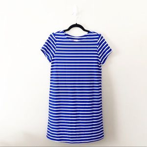 Jude Connally Blue White Striped Dress